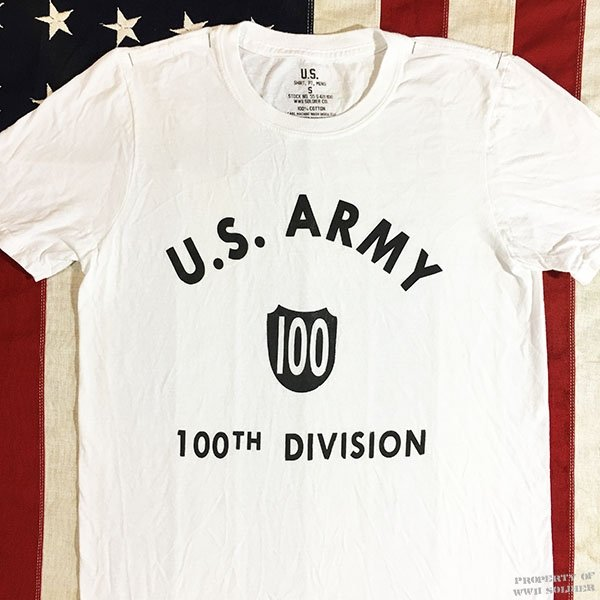 100th Division Shirt, US Army WWII Reproduction T Shirt