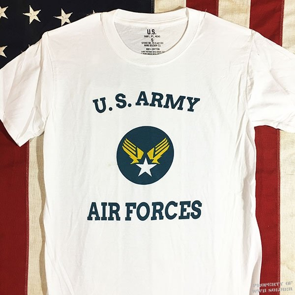 WWII AAF T Shirt, U. S. Army Air Force Men's Repro