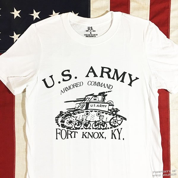 WWII Armored T Shirt, Fort Knox, U. S. Army Men's Repro