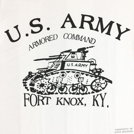 WWII armored t shirt, ww2 us army Fort Knox