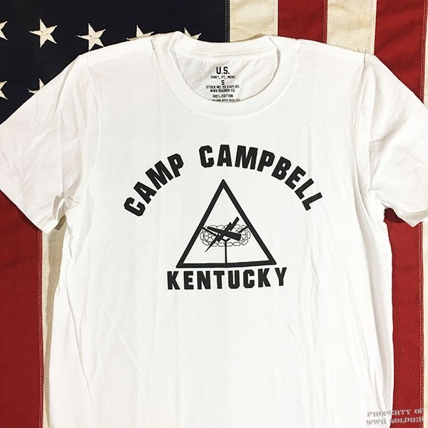 WWII Camp Campbell T Shirt, U. S. Army Armored Force Men's Repro
