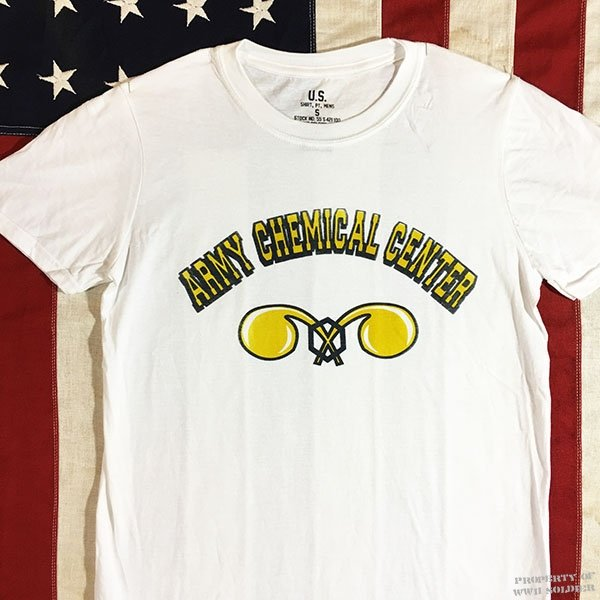 Chemical Corps T Shirt, WWII U. S. Army Men's Repro