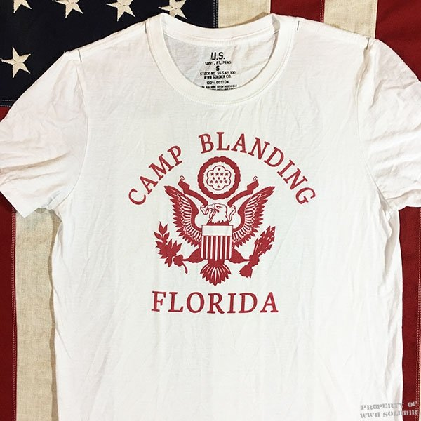 WWII Camp Blanding T Shirt, U. S. Army Men's Repro