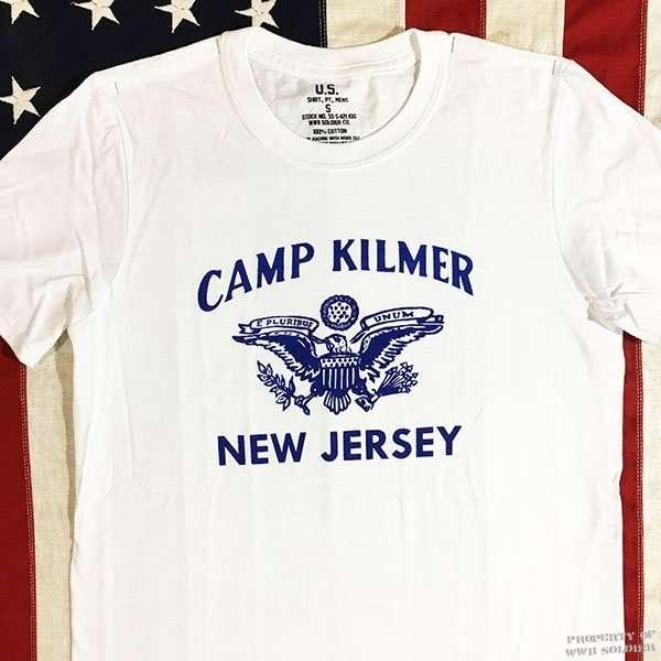 Camp Kilmer T Shirt, WWII U. S. Army Men's Repro