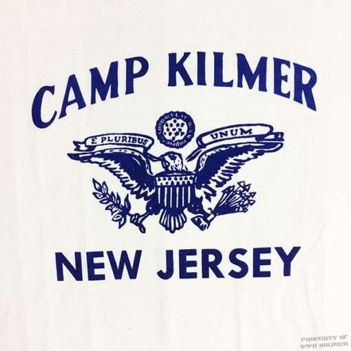WW2 Camp Kilmer t shirt mens reproduction