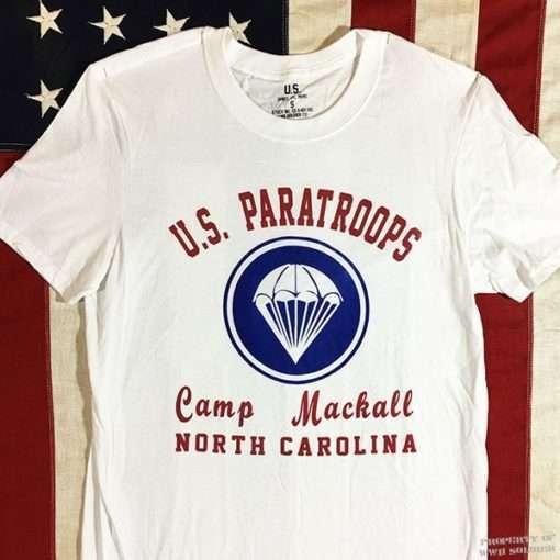 WW2 Camp Mackall T shirt reproduction