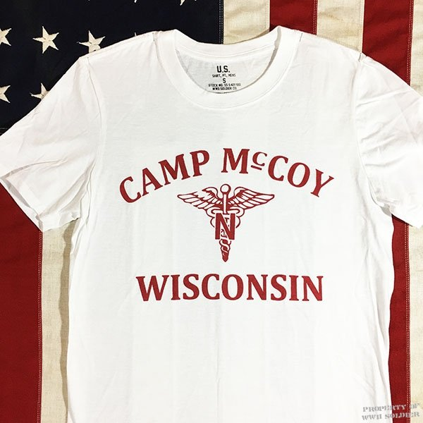 WWII Nurse T Shirt, U. S. Army Camp McCoy Repro