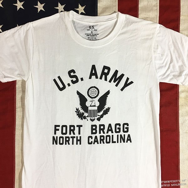 Fort Bragg T Shirt, Men's WWII U. S. Army reproduction