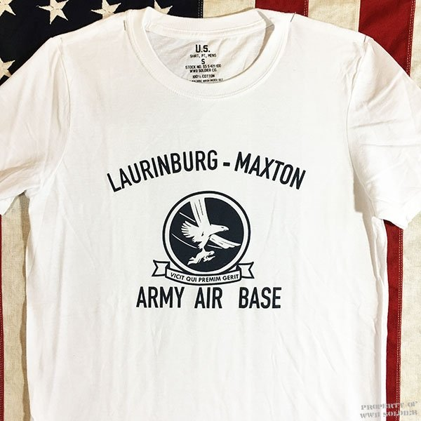 WWII T Shirt Laurinburg Maxton Army Air Base, Repro