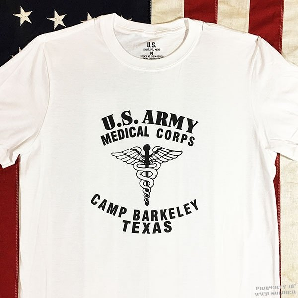 WWII Camp Barkeley Texas T Shirt, US Army Medical Corps
