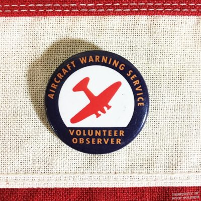 WWII Aircraft Warning Service Pin Reproduction, WW2