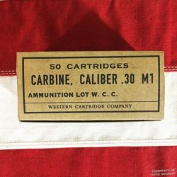 WWII Carbine Cartridge Box, Caliber .30 M1 Reproduction Box, ww2