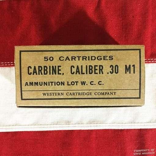 WWII Carbine Cartridge Box, Caliber .30 M1 Reproduction Box, ww2