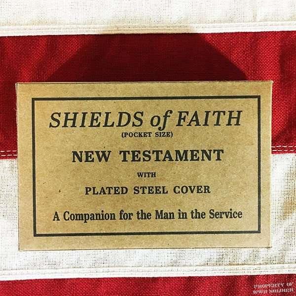 WWII Bible Box, ww2 Shields of Faith
