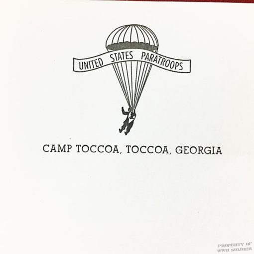 WWII Paratrooper Writing Pad Reproduction, ww2 stationary Taccoa