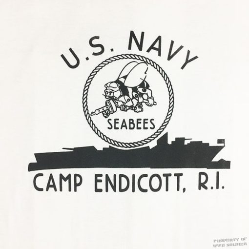 WWII Seabees Camp Endicott t shirt reproduction, ww2 Rhode Island