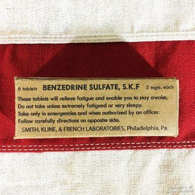 WWII Benzedrine Sulfate Box, ww2 reproduction