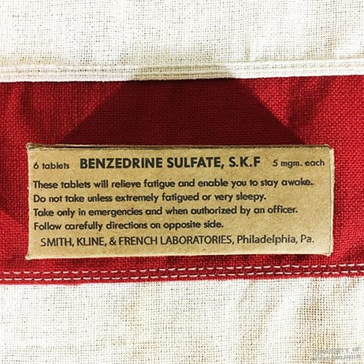 WWII Benzedrine Sulfate Box, ww2 reproduction