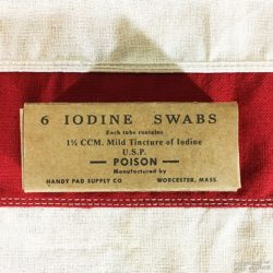 WWII Iodine Swab Box, ww2 reproduction