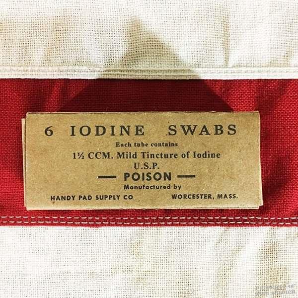 WWII Iodine Swab Box, ww2 reproduction