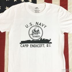 WWII Seabees Camp Endicott T shirt, ww2 US Navy