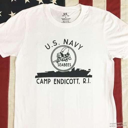 WWII Seabees Camp Endicott T shirt, ww2 US Navy