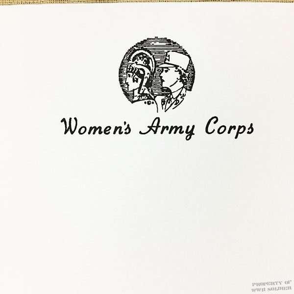 wwii wac writing pad reproduction women u0026 39 s army corps