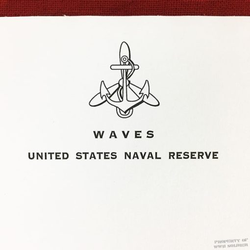 WWII WAVES stationary writing pad