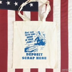 WWII Deposit Scrap Bag, ww2 tote bag