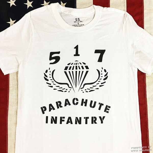 WWII 517 PIR Parachute Infantry T Shirt, U.S. Army Reproduction