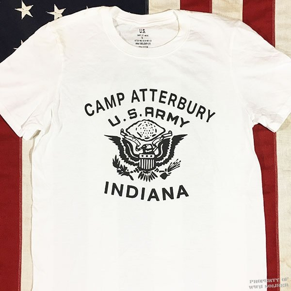 Camp Atterbury T Shirt, WWII U. S. Army Men's Repro