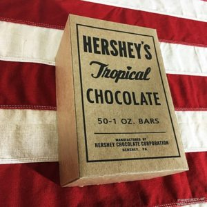 WWII Hershey tropical chocolate box ww2