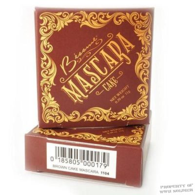 Besame Brown Cake Mascara, WWII WW2 Makeup