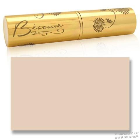 Besame Bisque Cashmere Foundation Stick WWII WW2 Pan stick, Pan Stik