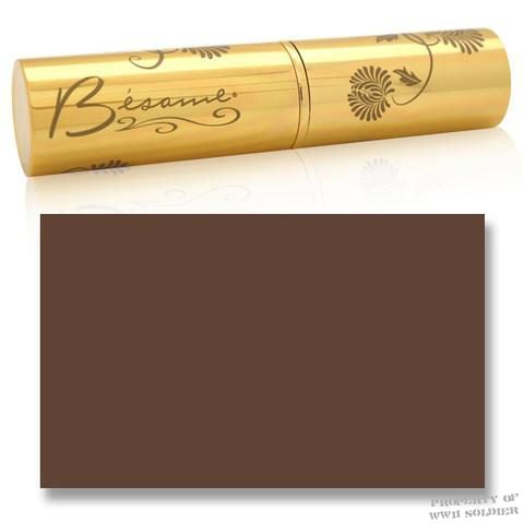 Besame Deep Bronze Cashmere Foundation Stick, WWII WW2 Pan Stik, Pan Stick