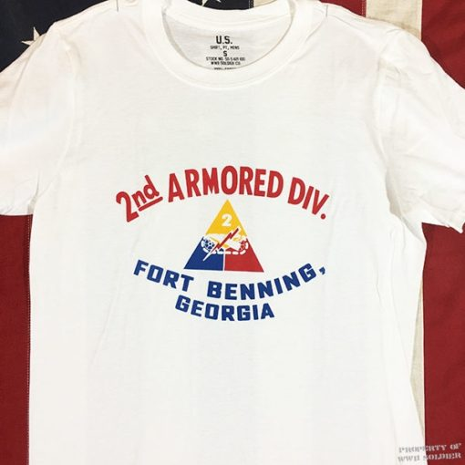 2nd Armored Division T Shirt, WWII, WW2