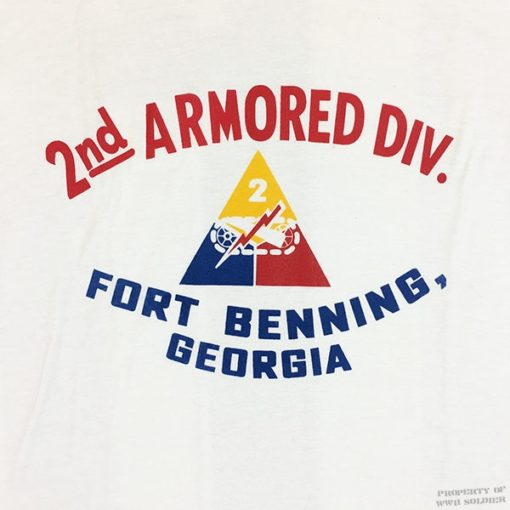 2nd Armored T Shirt Design, WWII, WW2