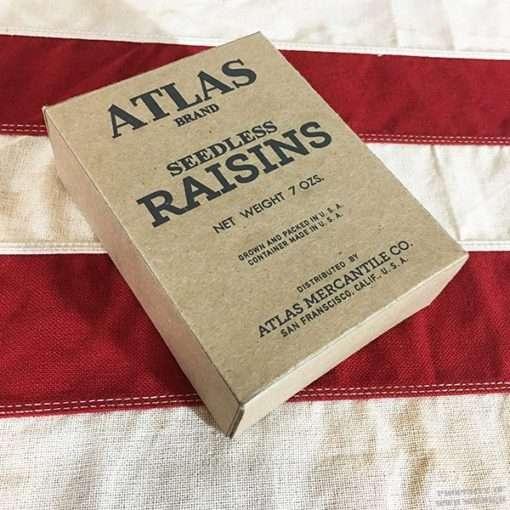 WWII Atlas Seedless Raisins Box, WW2 Reproductions