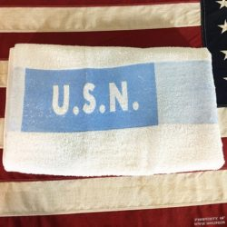 WWII USN Navy Towel, WW2