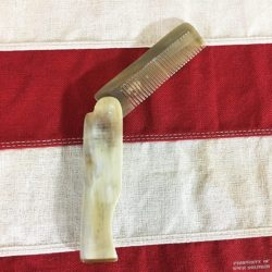 WWI Folding Comb, WW1 Mustache comb