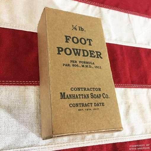WWI Foot Powder, WW1 reproduction
