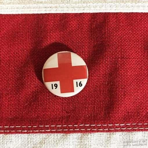 WWI Red Cross Pin Back, WW1