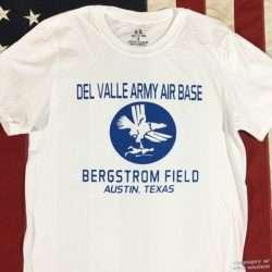 WWII Del Valle Bergstrom Field Texas T shirt, ww2 reprodutionn