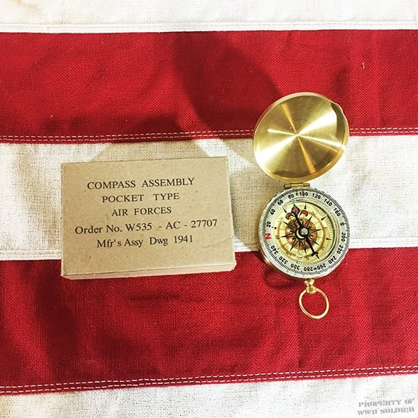 WWII Brass Compass Reproduction WW2