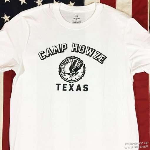 WWII Camp Howze Texas T Shirt reproduction Rail Splitters WW2