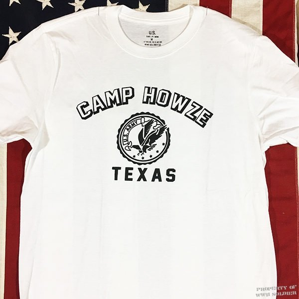 WWII Camp Howze Texas T Shirt reproduction, US Army