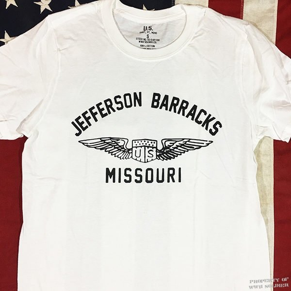 WWII Jefferson Barracks Missouri T Shirt reproduction, US Army