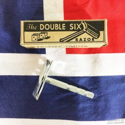British Double Six Safety Razor Reproduction Box WW2