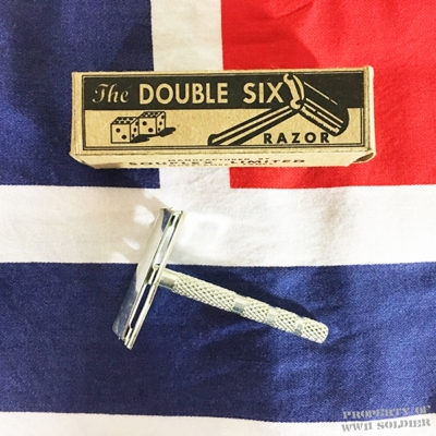 British Double Six Safety Razor Reproduction Box WW2