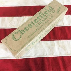WWI Chesterfield Cigarette Carton Box Reproduction, WW2